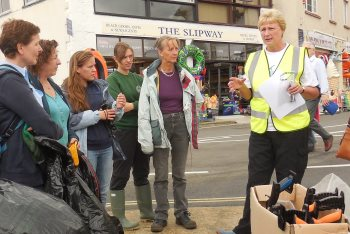 Lyme Regis Beach Clean Volunteers